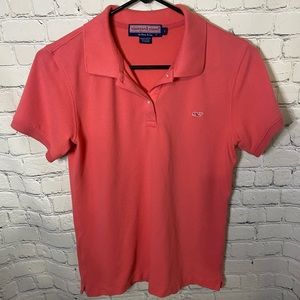 Vineyard Vines Classic Pink Polo Size S